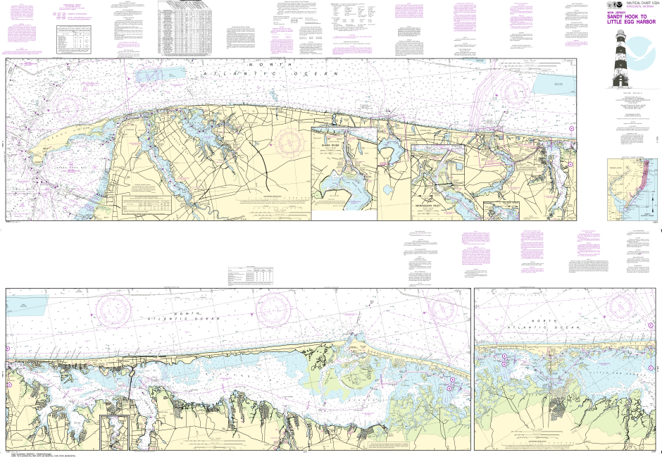 NOAA Print-on-Demand Charts US Waters-Intracoastal Waterway Sandy Hook to Little Egg Harbor-12324