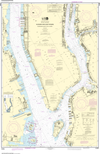 NOAA Print-on-Demand Charts US Waters-Hudson and East Rivers Governors Island to 67th Street-12335