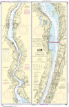 NOAA Print-on-Demand Charts US Waters-Hudson River New York to Wappinger Creek-12343