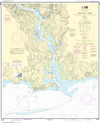 NOAA Print-on-Demand Charts US Waters-Connecticut River Long lsland Sound to Deep River-12375