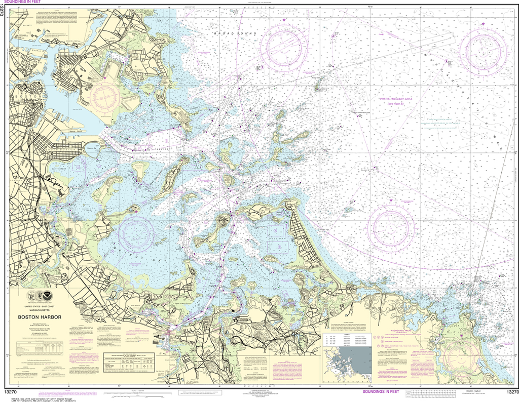 NOAA Chart 13270: Boston Harbor