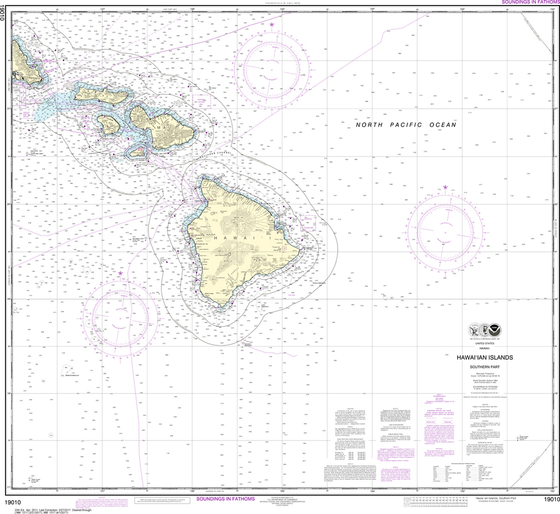 NOAA Chart 19010: Hawai'ian Islands - Southern Part