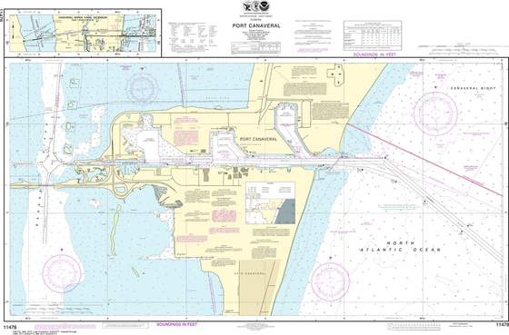 NOAA Chart 11478: Port Canaveral, Canaveral Barge Canal Extension
