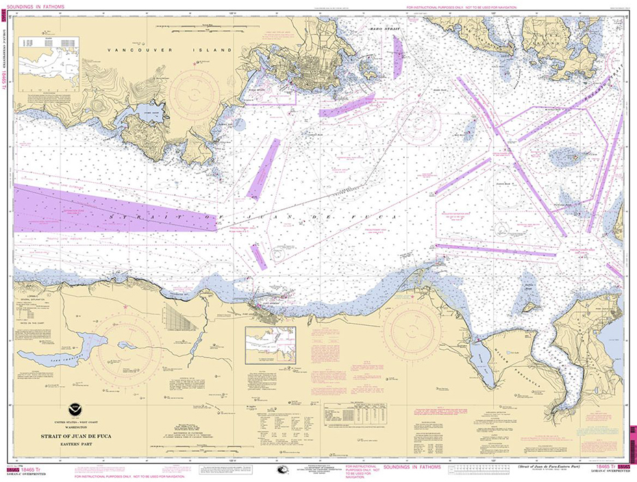 Training Chart 18465TR: Straight of Juan De Fuca (Eastern Part)