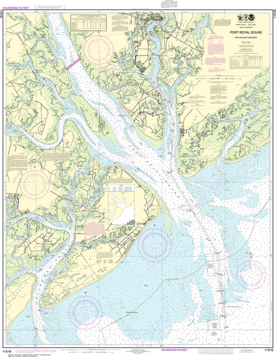 NOAA Chart 11516: Port Royal Sound and Inland Passages