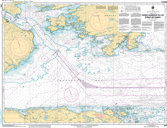 CHS Print-on-Demand Charts Canadian Waters-4307: Canso Harbour to / au Strait of Canso, CHS POD Chart-CHS4307