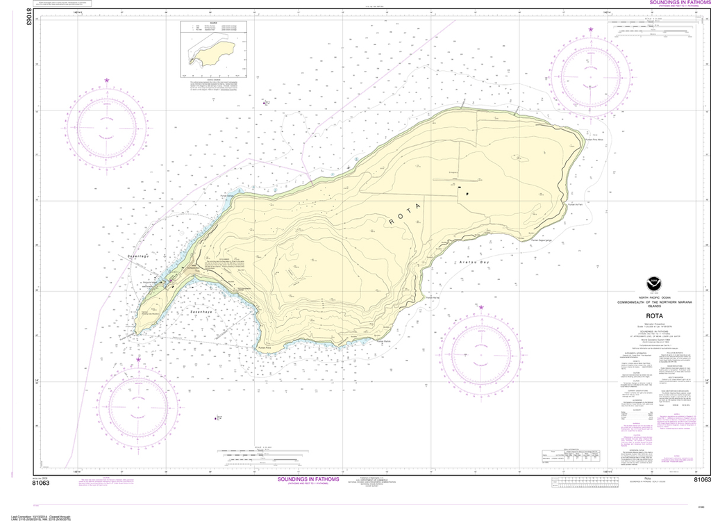 NOAA Chart 81063: Commonwealth of the Northern Mariana Islands - Rota
