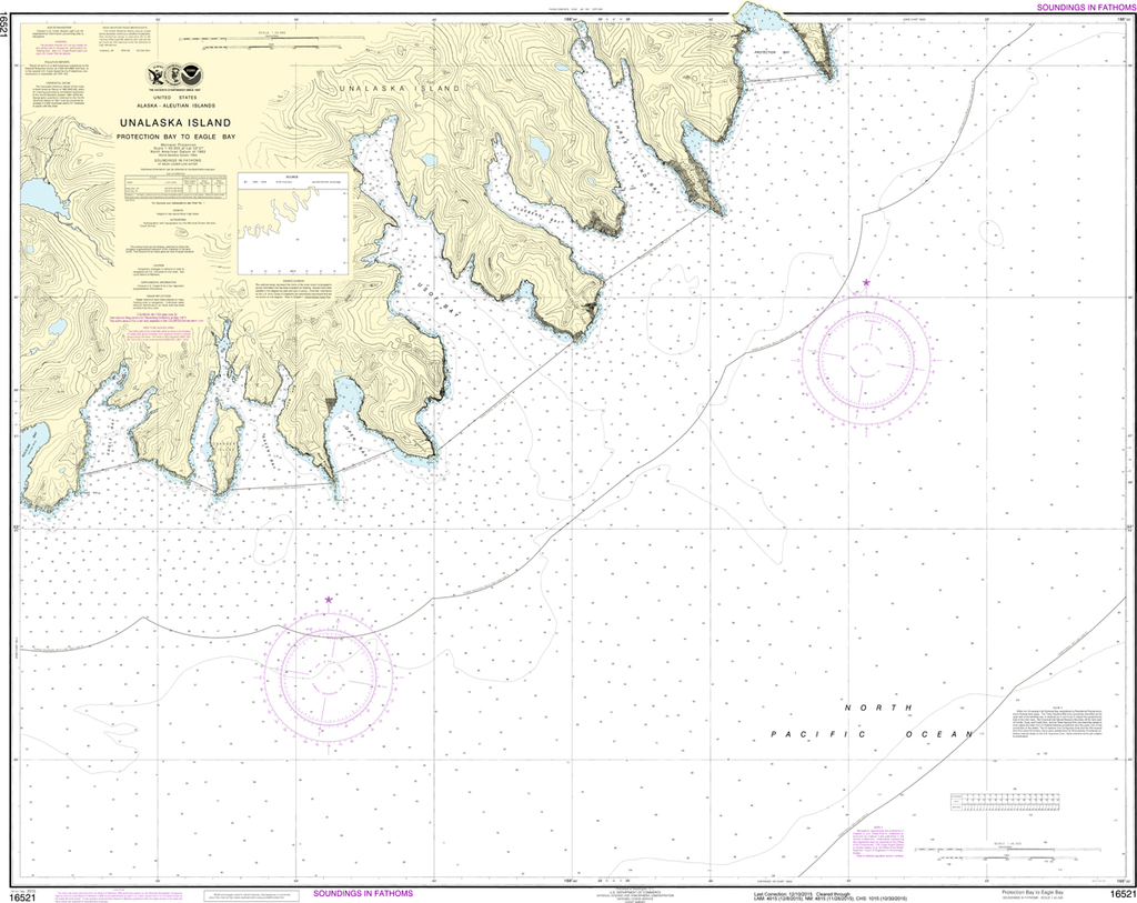 NOAA Chart 16521: Unalaska Island - Protection Bay to Eagle Bay