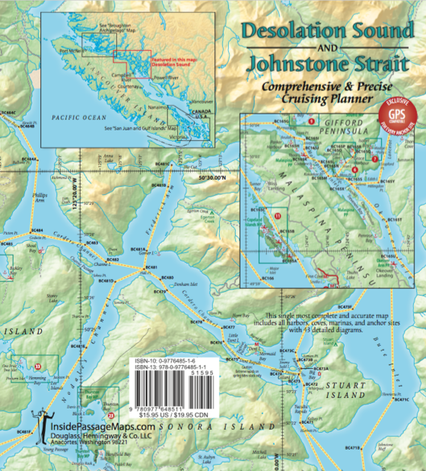 Desolation Sound & Johnstone Strait Cruise Planning Map