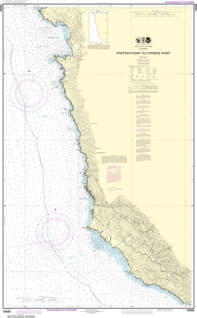 NOAA Chart 18686: Pfeiffer Point to Cypress Point
