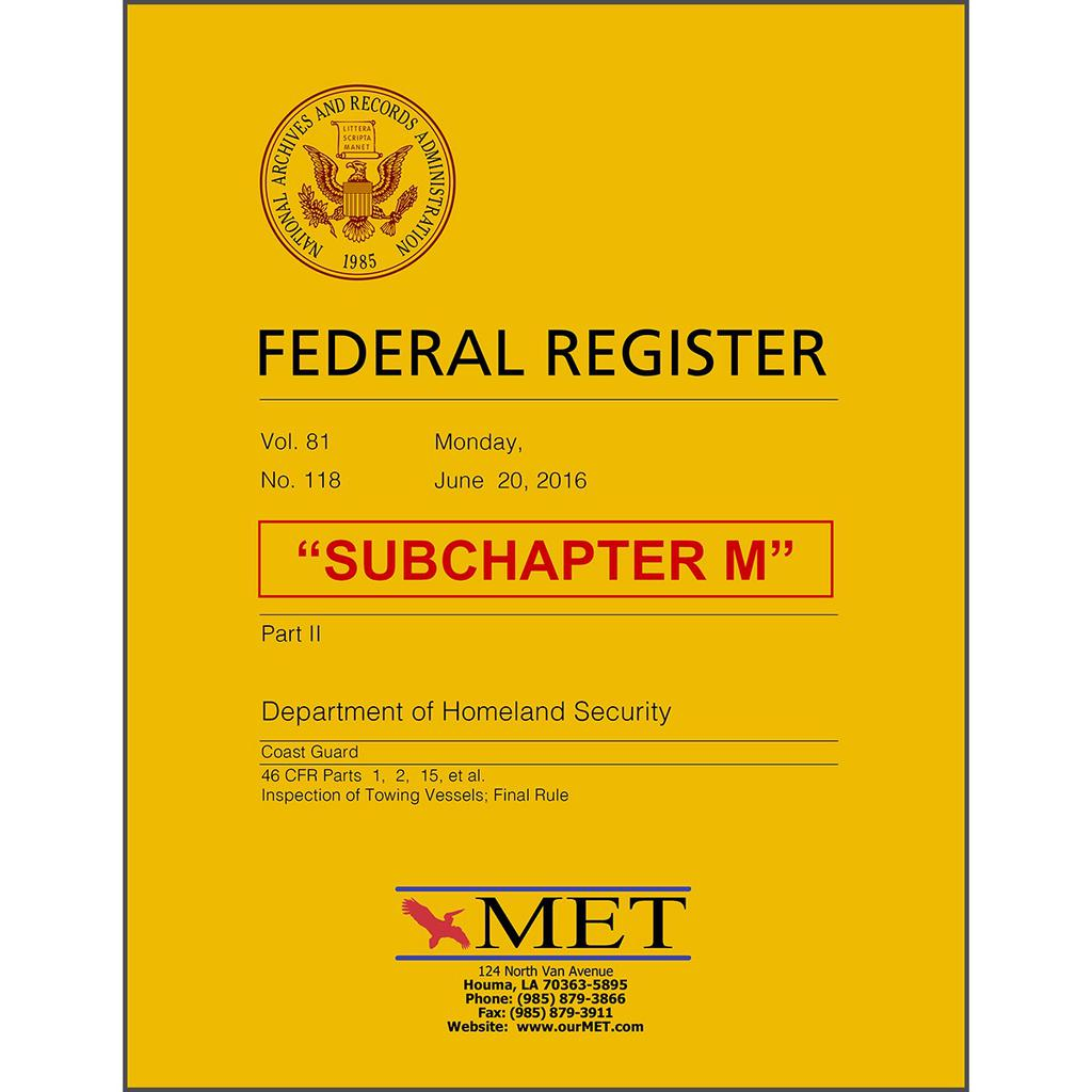 CFR Subchapter M