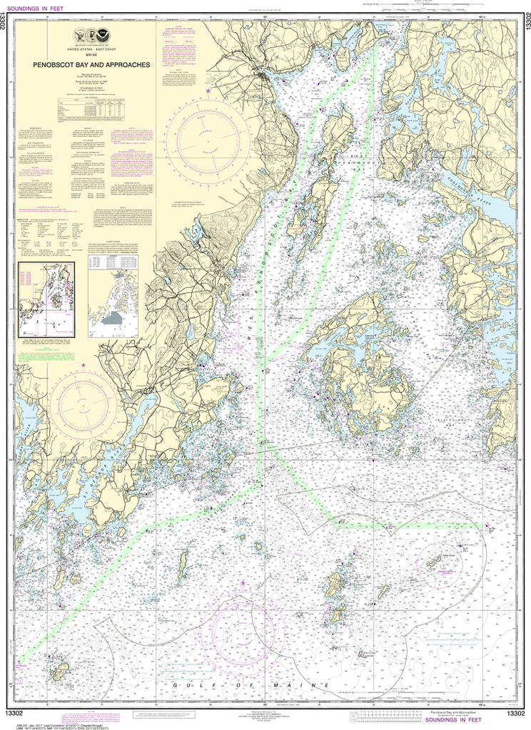 NOAA Chart 13302: Penobscot Bay and Approaches