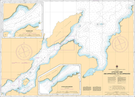 CHS Chart 4523: Little Bay Arm and Approaches / et les approches