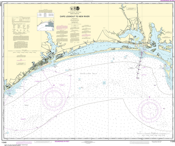 NOAA Chart 11543: Cape Lookout to New River