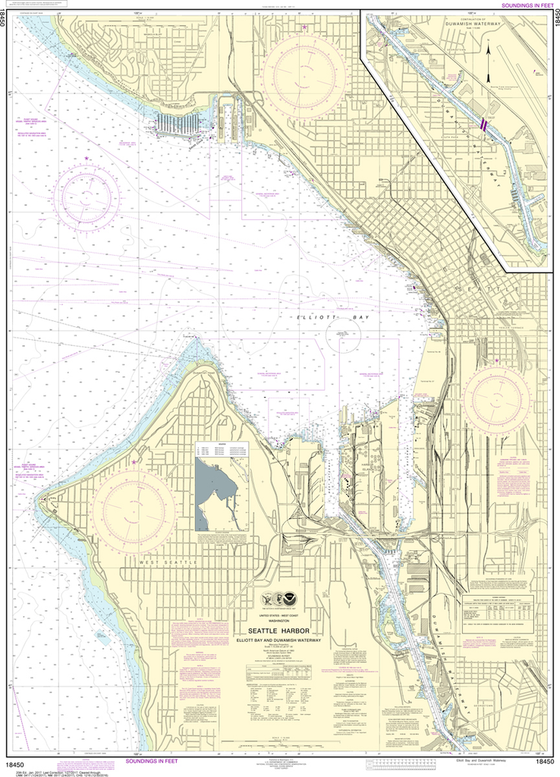 NOAA Chart 18450: Seattle Harbor, Elliott Bay and Duwamish Waterway