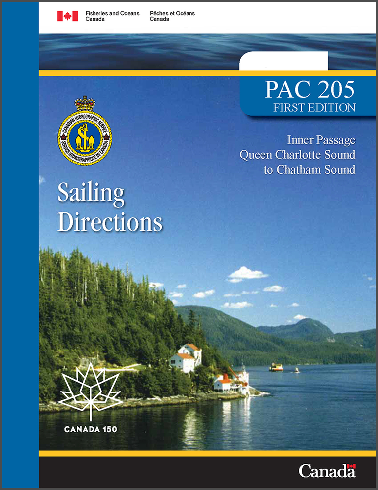 Sailing Directions PAC205E: Inner Passage - Queen Charlotte Sound to Chatham Sound