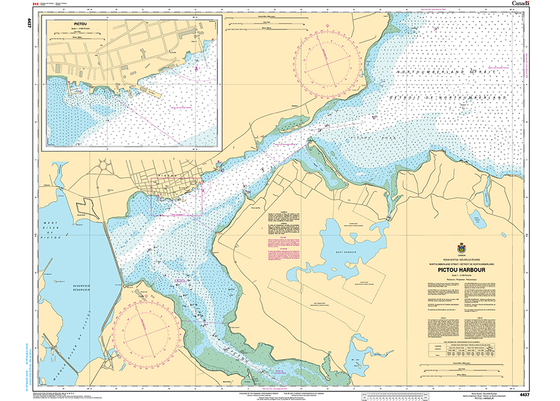 CHS Print-on-Demand Charts Canadian Waters-4437: Pictou Harbour, CHS POD Chart-CHS4437