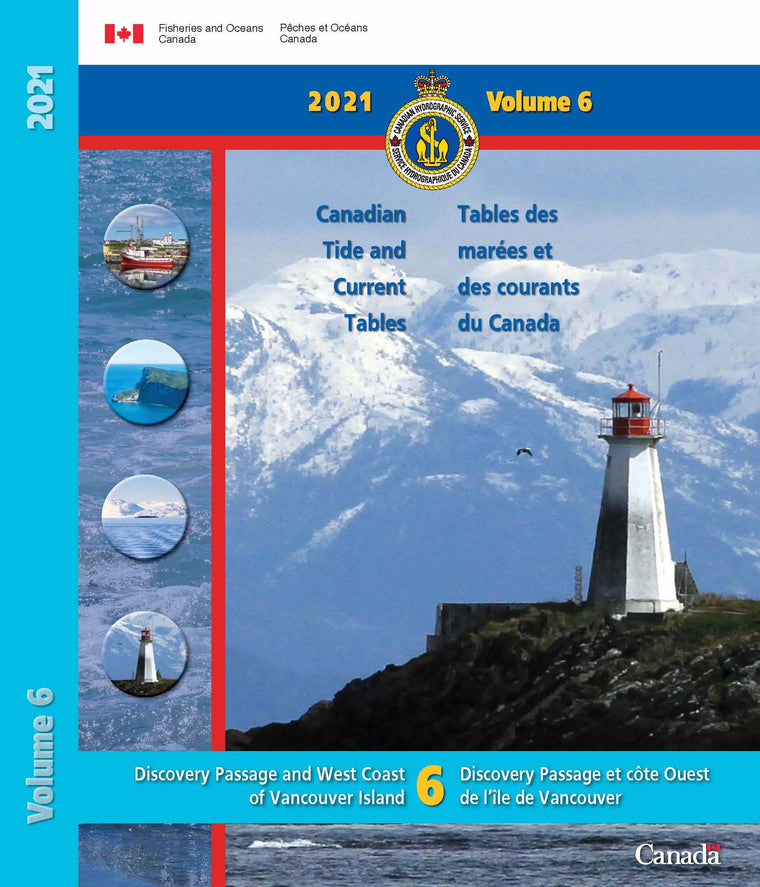 2021 Canadian Tide & Currents Vol. 6-Discovery Passage and West Coast of Vancouver Island