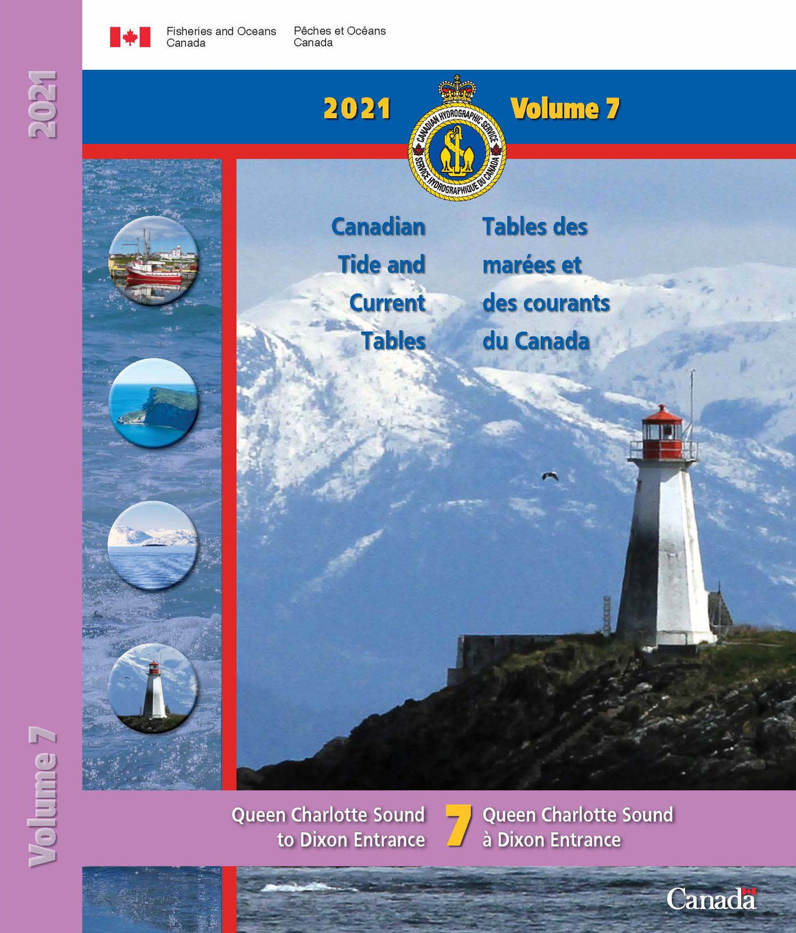 2021 Canadian Tide & Currents Vol. 7-  Queen Charlotte Sound to Dixon Entrance