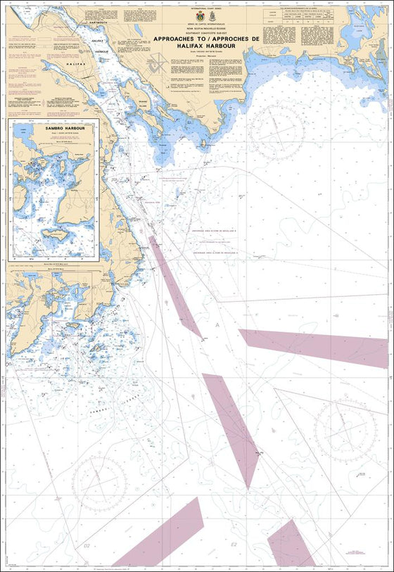 CHS Chart 4237: Approaches to / Approches de Halifax Harbour