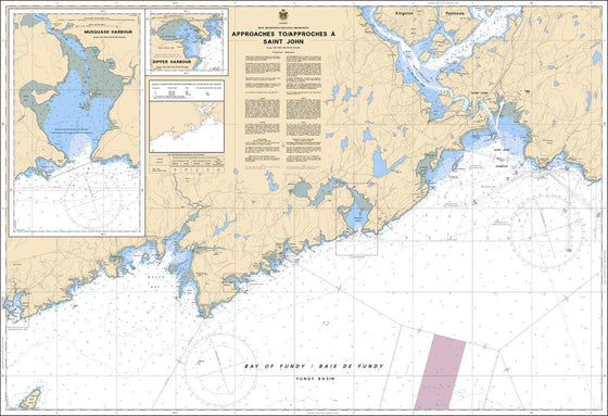 CHS Chart 4116: Approaches to / Approches à Saint John