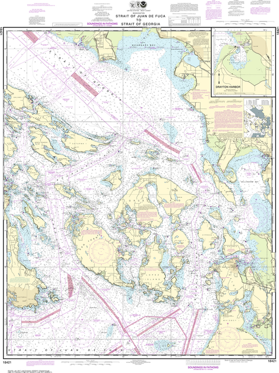 NOAA Chart 18421: Strait of Juan de Fuca to Strait of Georgia, Drayton Harbor