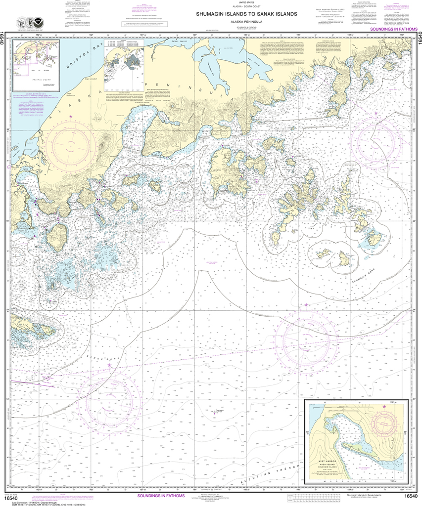 NOAA Chart 16540: Shumagin Islands to Sanak Islands, Mist Harbor