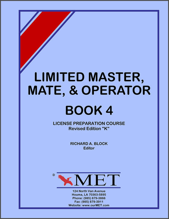 Limited Master Mate & Operator License Study Guide