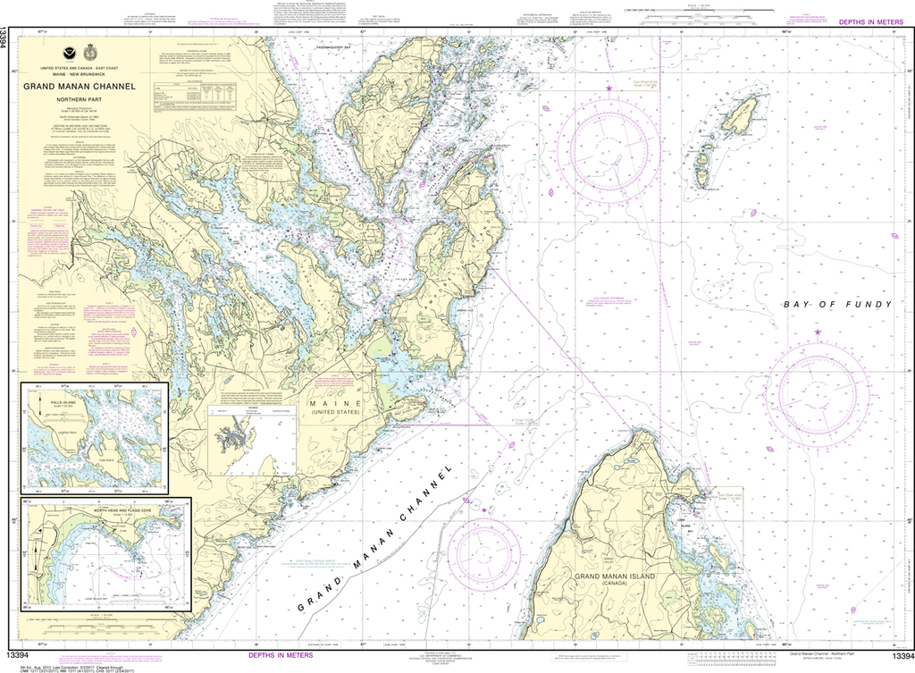 NOAA Chart 13394: Grand Manan Channel - Northern Part, North Head and Flagg Cove