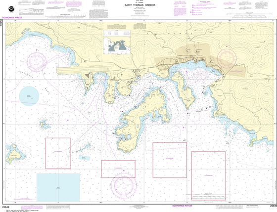 NOAA Chart 25649: Saint Thomas Harbor
