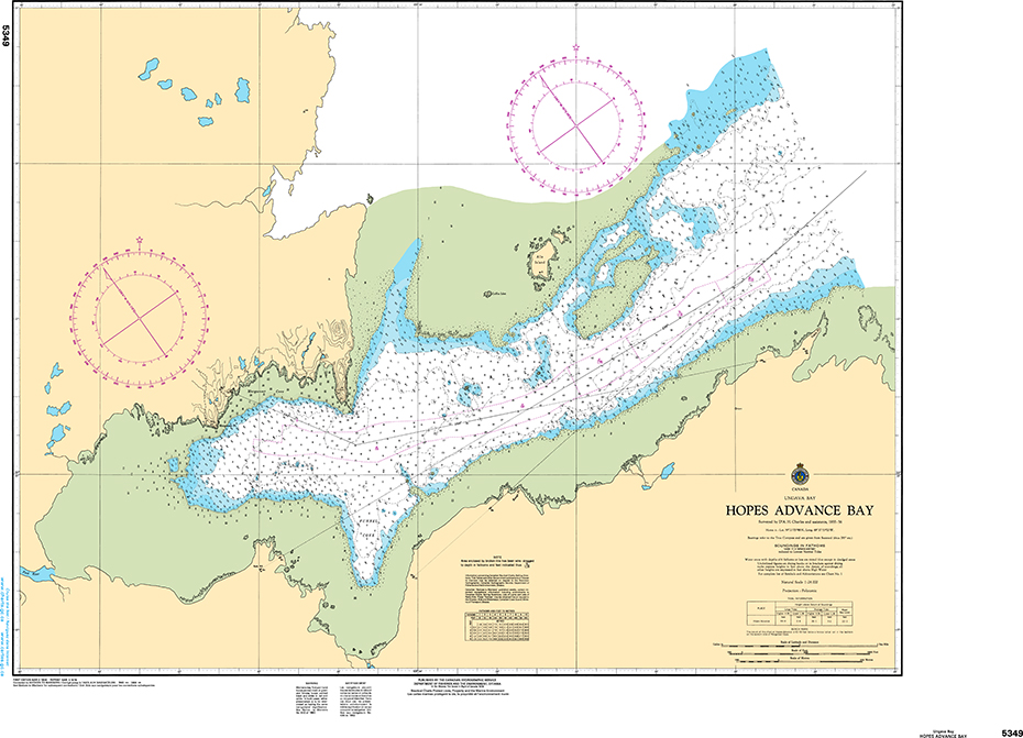 CHS Print-on-Demand Charts Canadian Waters-5349: Hopes Advance Bay, CHS POD Chart-CHS5349