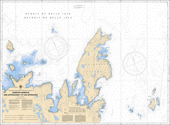 CHS Chart 4512: Quirpon Harbour and Approaches / et les approches