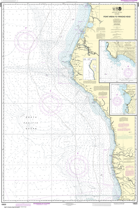 NOAA Chart 18620: Point Arena to Trinidad Head, Rockport Landing, Shelter Cove