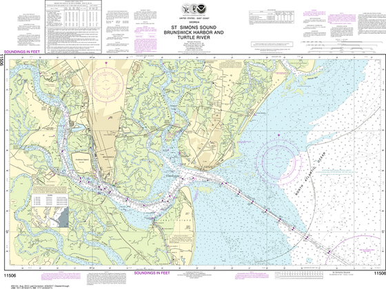 NOAA Chart 11506: St. Simons Sound - Brunswick Harbor and Turtle River
