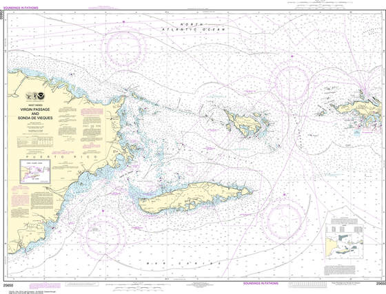 NOAA Chart 25650: Virgin Passage and Sonda de Vieques