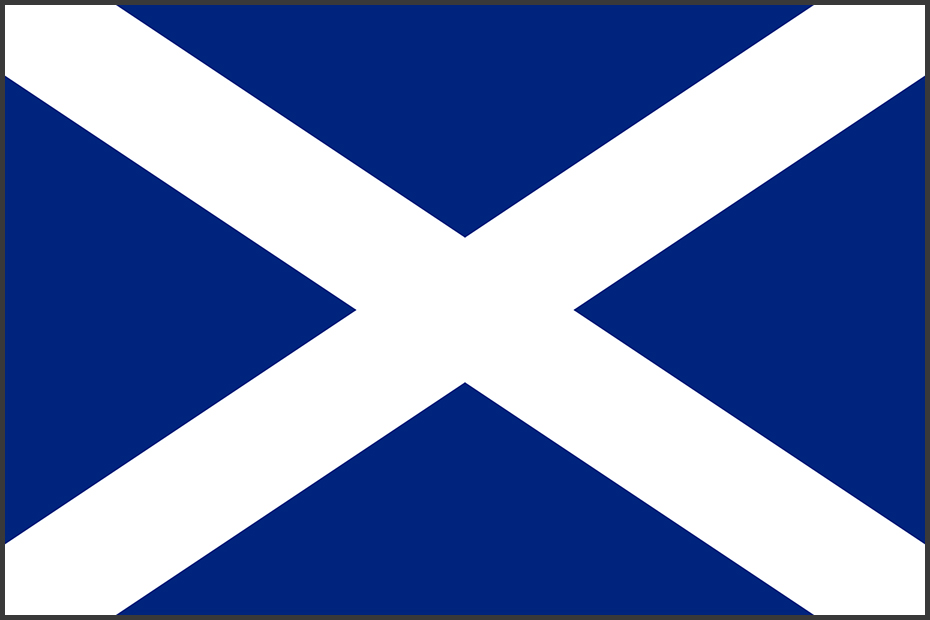 Flag of Scotland (St Andrews Cross)