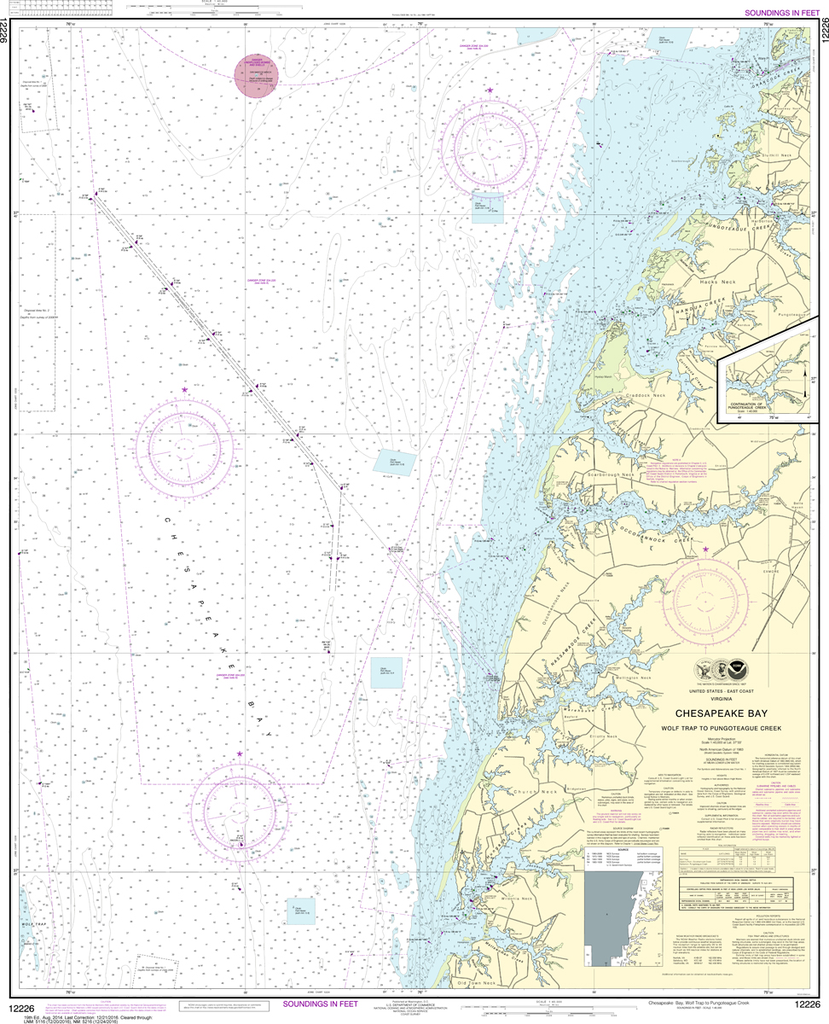 NOAA Chart 12226: Chesapeake Bay - Wolf Trap to Pungoteague Creek