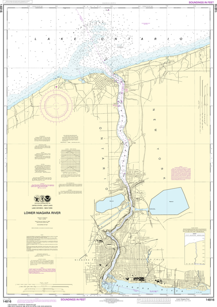 NOAA Chart 14816: Lower Niagara River