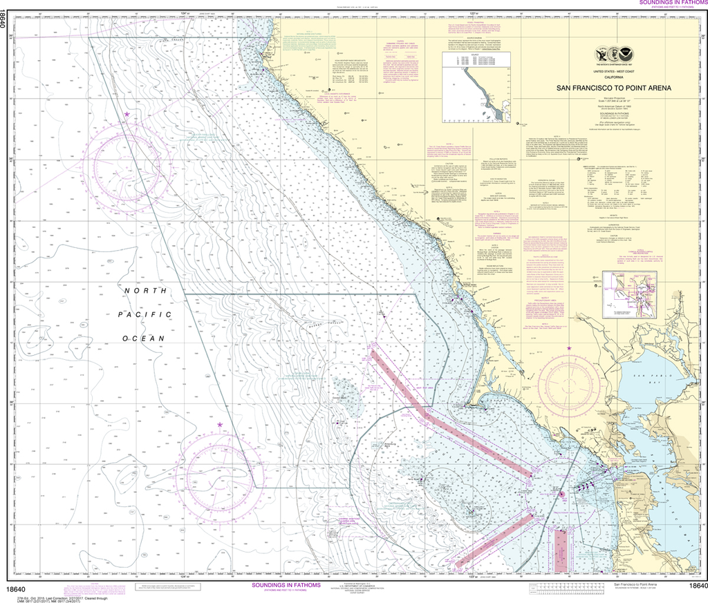 NOAA Chart 18640: San Francisco to Point Arena