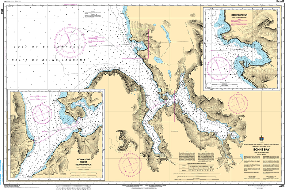 CHS Print-on-Demand Charts Canadian Waters-4658: Bonne Bay, CHS POD Chart-CHS4658