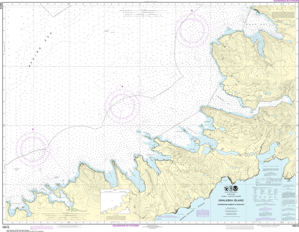 NOAA Chart 16515: Chernofski Harbor to Skan Bay
