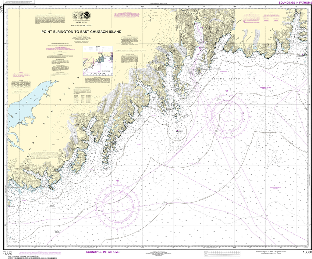 NOAA Chart 16680: Point Elrington to East Chugach Island