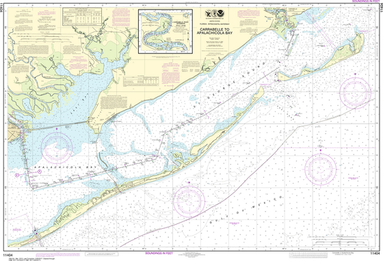 NOAA Chart 11404: Intracoastal Waterway - Carrabelle to Apalachicola Bay, Carrabelle River