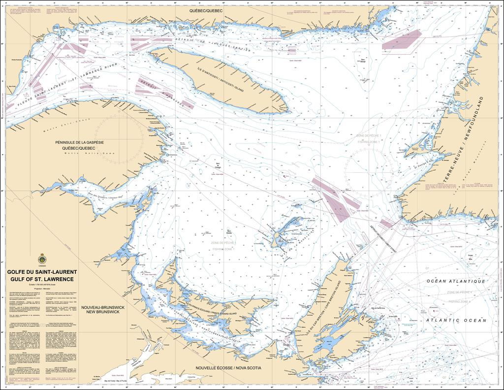 CHS Chart 4002: Golfe du Saint-Laurent / Gulf of St. Lawrence
