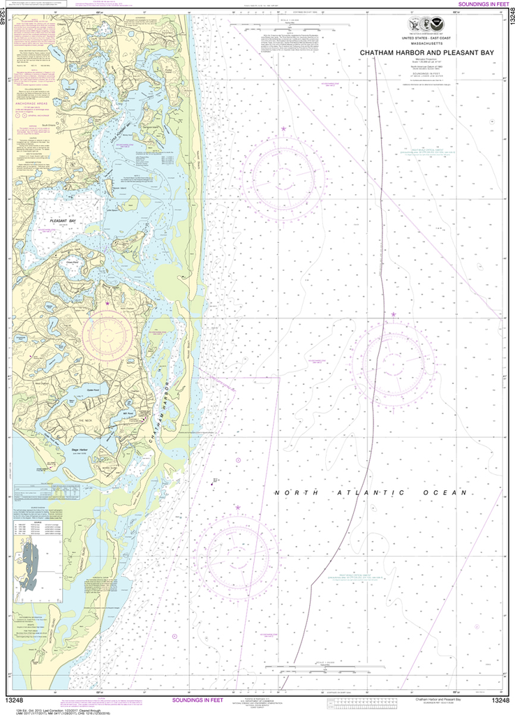 NOAA Chart 13248: Chatham Harbor and Pleasant Bay