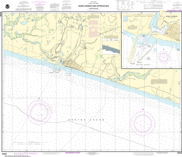 NOAA Chart 16206: Nome Harbor and Approaches, Norton Sound, Nome Harbor