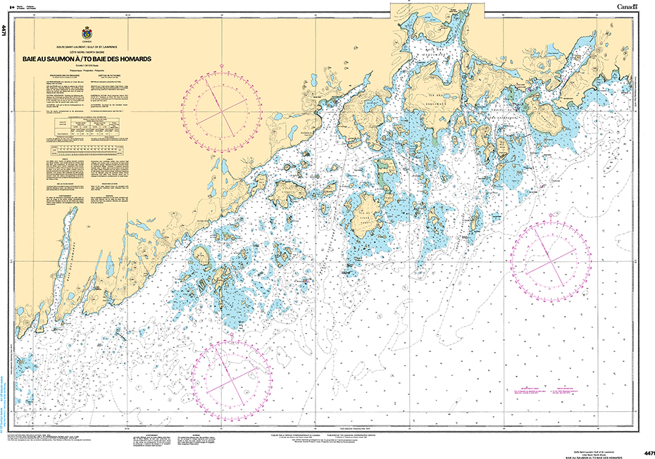 CHS Print-on-Demand Charts Canadian Waters-4471: Baie au Saumon €/to Baie des Homards, CHS POD Chart-CHS4471