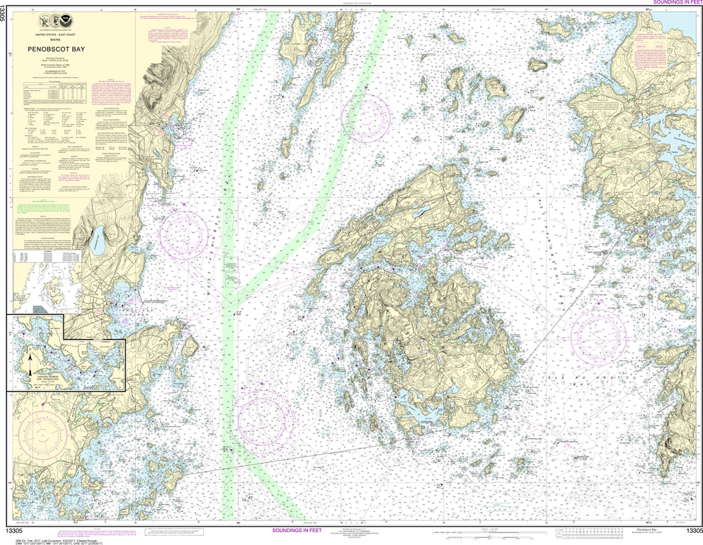 NOAA Chart 13305: Penobscot Bay, Carvers Harbor and Approaches