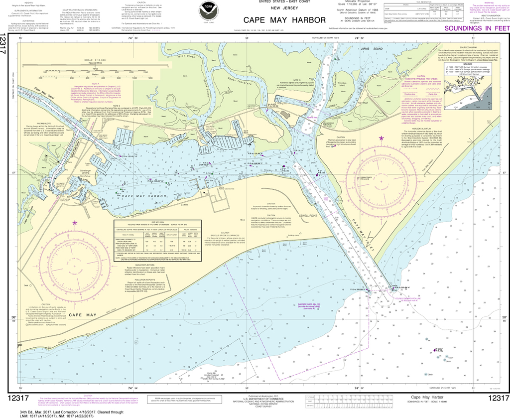 NOAA Chart 12317: Cape May Harbor