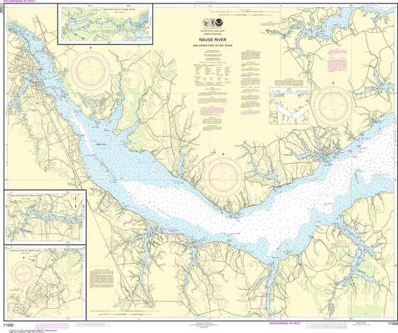 NOAA Chart 11552: Neuse River and Upper Part of Bay River